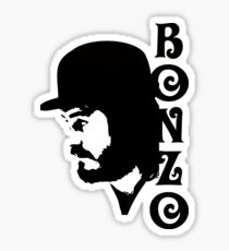 SOLID BLACK BONZO Sticker