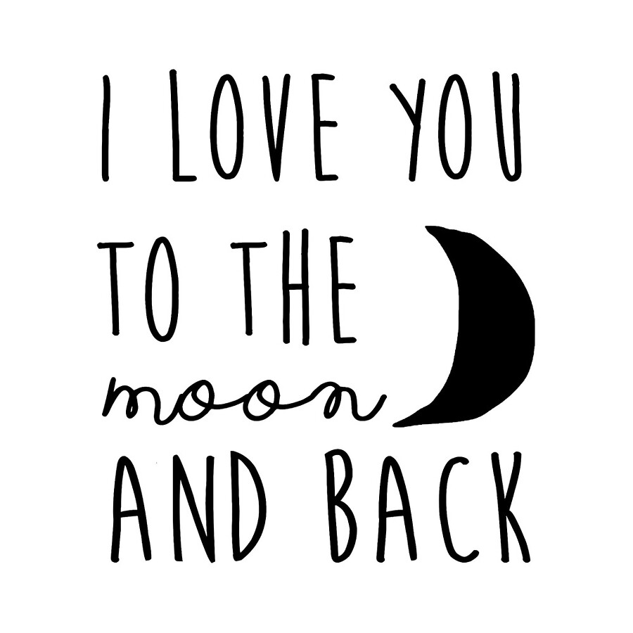 Quote I Love You To The Moon And Back I Love You To The Moon And Back Nursery Printable Quote Printable