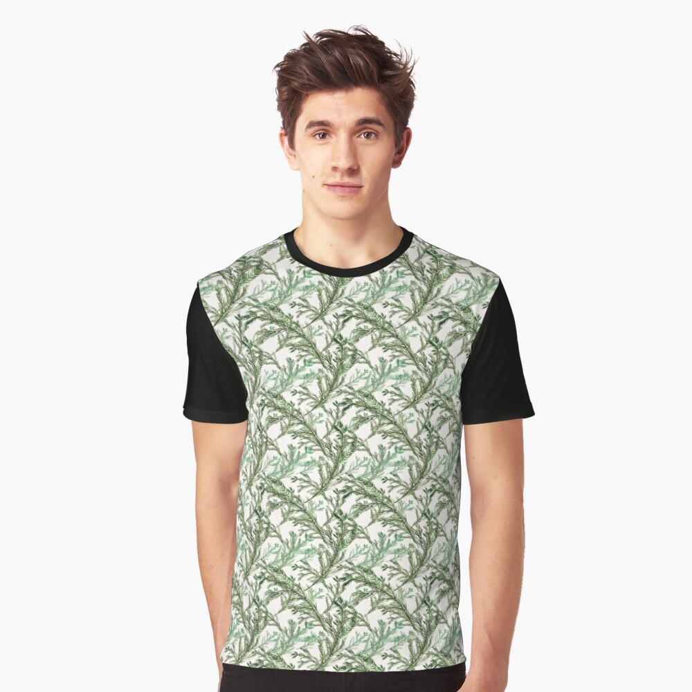 Pine Needles Graphic T-Shirt Front
