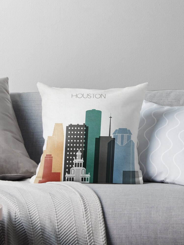 Houston skyline,Texas cityscape,Houston accessories   by DimDom