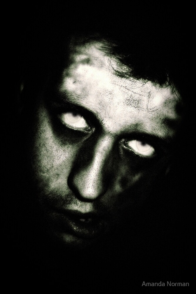 Male Zombie Portrait by Amanda Norman by Amanda Norman