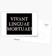 Long Live Dead Languages - Latin Postcards