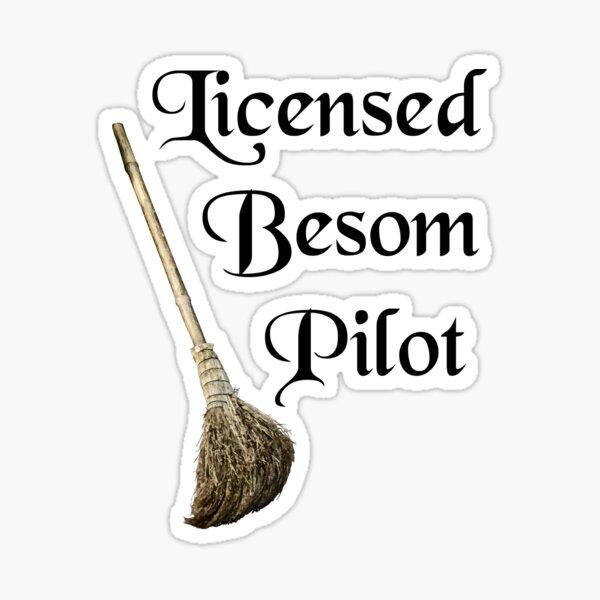 Licensed Besom Pilot Sticker