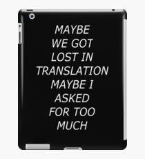 Lost in Translation Invert iPad Case/Skin