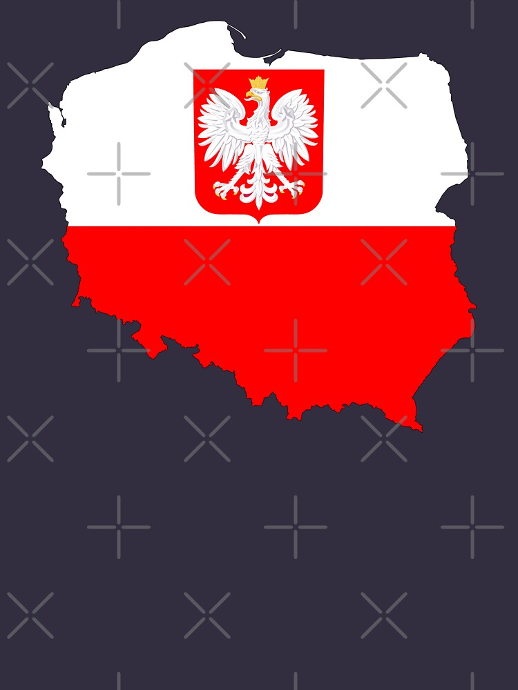 Poland Flag Map with Coat of Arms by limitlezz