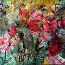 Abstract fluid flower garden by Thecathartist