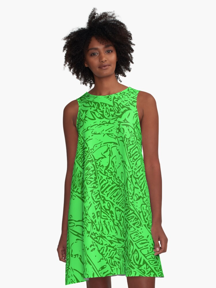 Croton - Green A-Line Dress Front