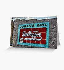 Dr Pepper Mural Greeting Card