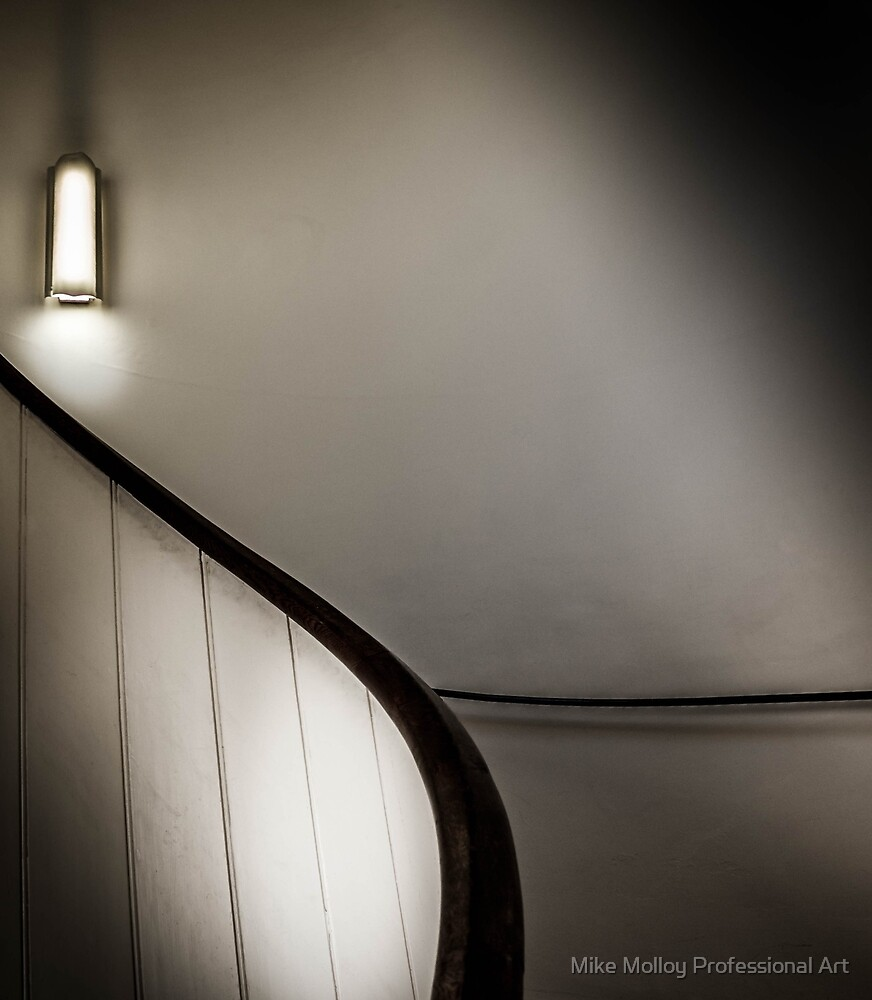 Lit Stairs by Mike Molloy Professional Art