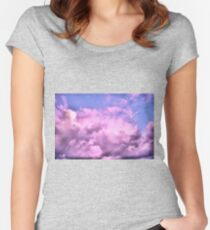 Threatening Clouds at Sunset Women's Fitted Scoop T-Shirt