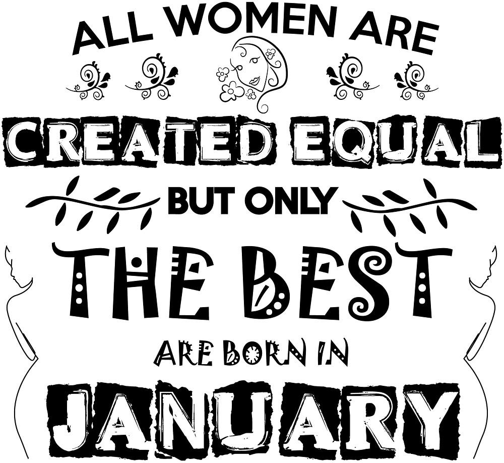 WOMAN BIRTHDAY JANUARY by smoothfysh