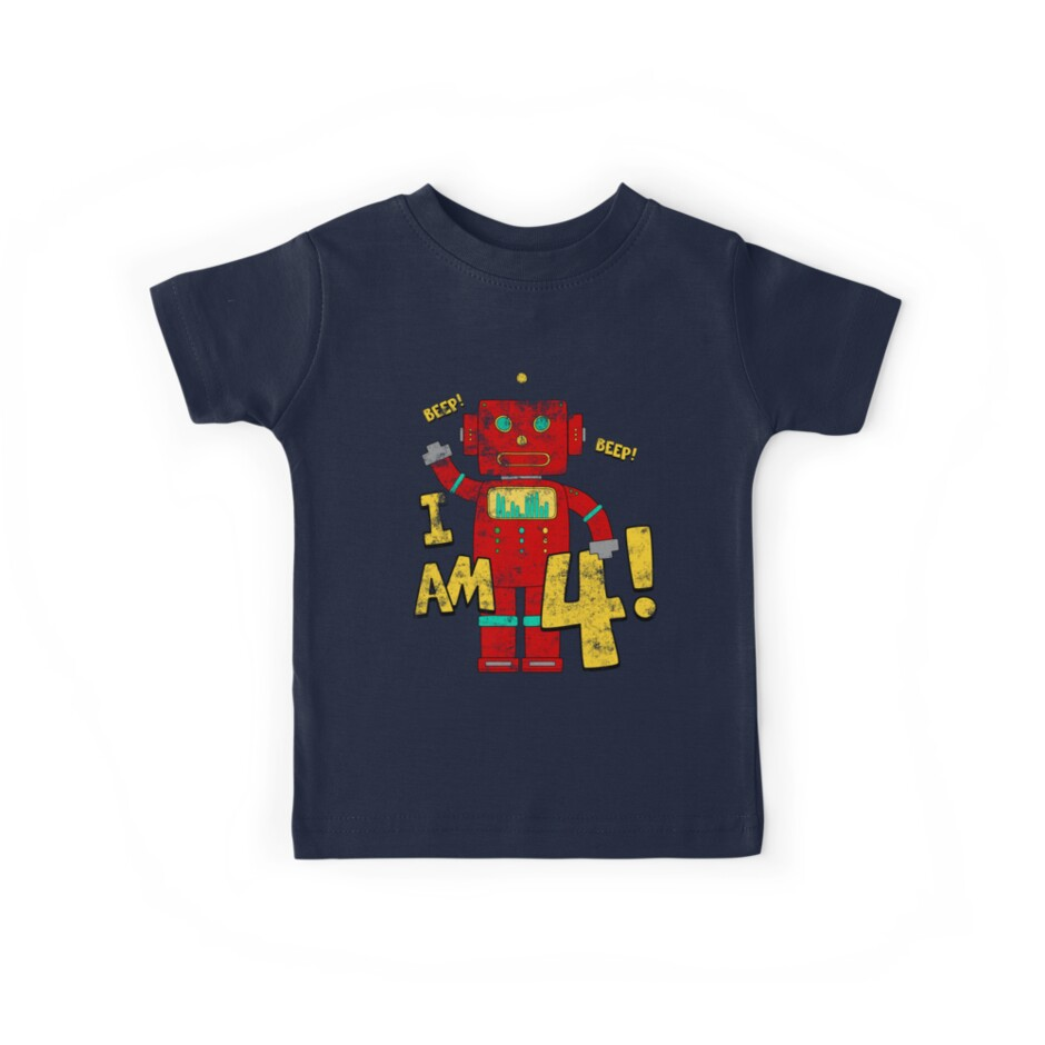 Retro Robot 4th Birthday Party by superpartytees
