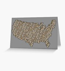 CATography- USA (black) Greeting Card