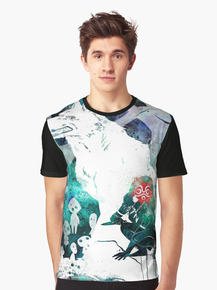 Watercolor mononoke Graphic T-Shirt Front