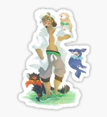 Kukui and Starters Sticker