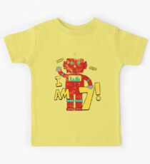 Retro Robot 7th Birthday Party Kids Clothes