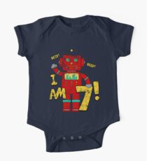 Retro Robot 7th Birthday Party Kids Clothes