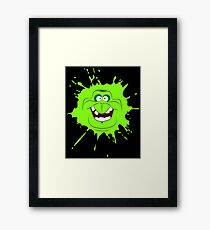 Cartoon style slimer (Ghostbusters) Framed Print