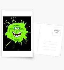 Cartoon style slimer (Ghostbusters) Postcards