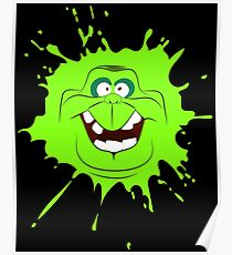Cartoon style slimer (Ghostbusters) Poster