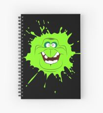 Cartoon style slimer (Ghostbusters) Spiral Notebook