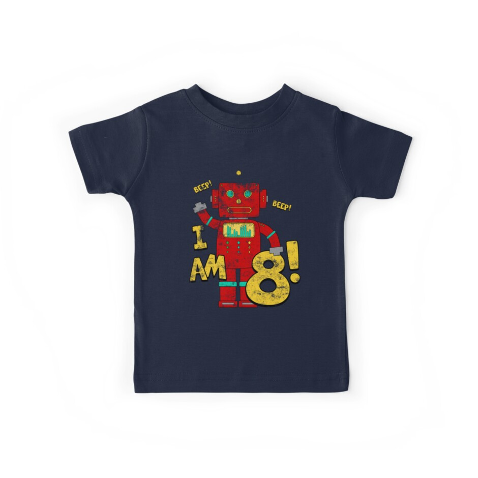 Retro Robot 8th Birthday Party By Superpartytees