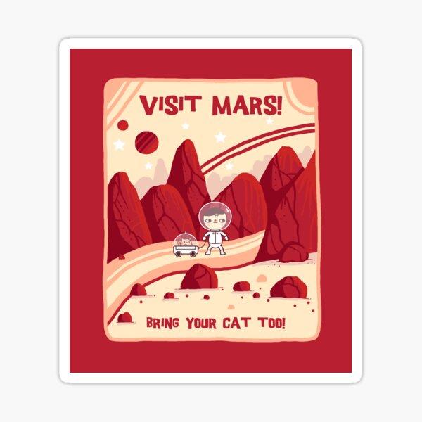 Visitez Mars Sticker