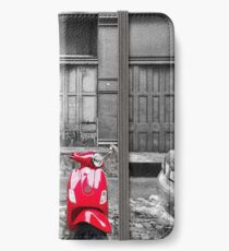 Red Vespa iPhone Wallet