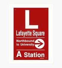 Lafayette Square Northbound Art Print