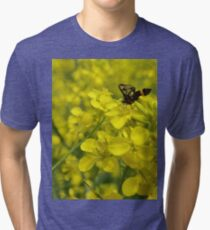 Yellow flower and bee Tri-blend T-Shirt