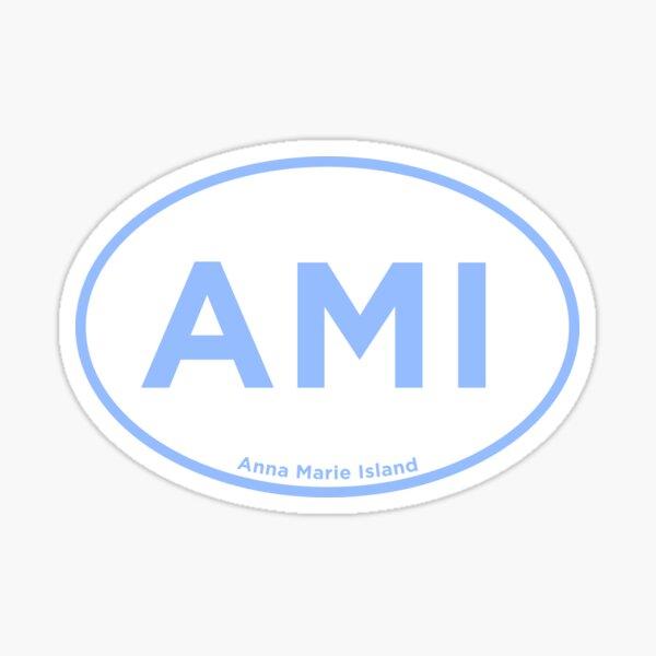 Anna Marie Island Airport Code Sticker