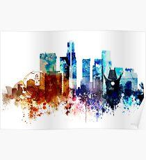 Los Angeles, CA Skyline Poster
