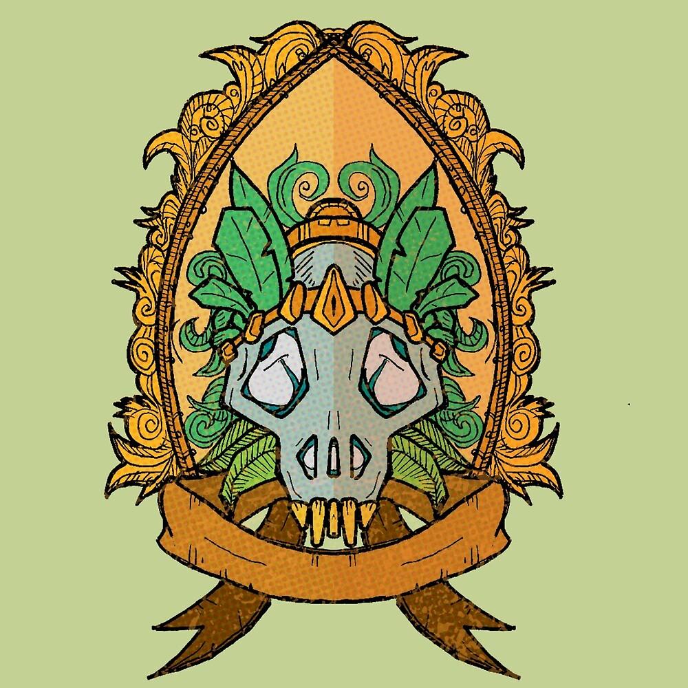Plume skull by IMTEKTEK
