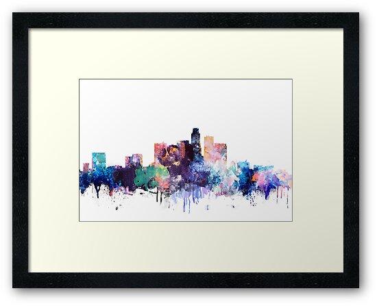 Los Angeles Watercolor by DimDom