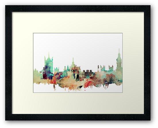 London watercolor by DimDom