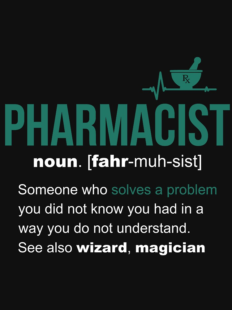 Pharmacist Definition Funny Gift by LazyGreyBear