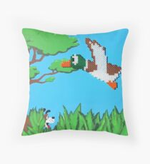 Duck Hunt Brown (Paint 'N' Beads) Throw Pillow