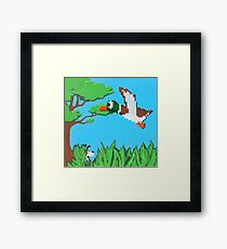 Duck Hunt Brown (Paint 'N' Beads) Framed Print