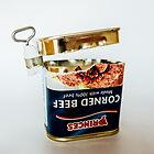 Empty Tin Of Corned Beef by riotphoto