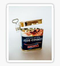 Empty Tin Of Corned Beef Sticker