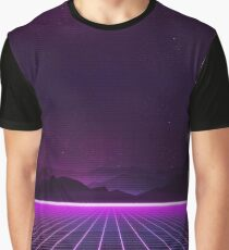 RETROWAVE 80's NEON GLOW GRID PATTERN Graphic T-Shirt