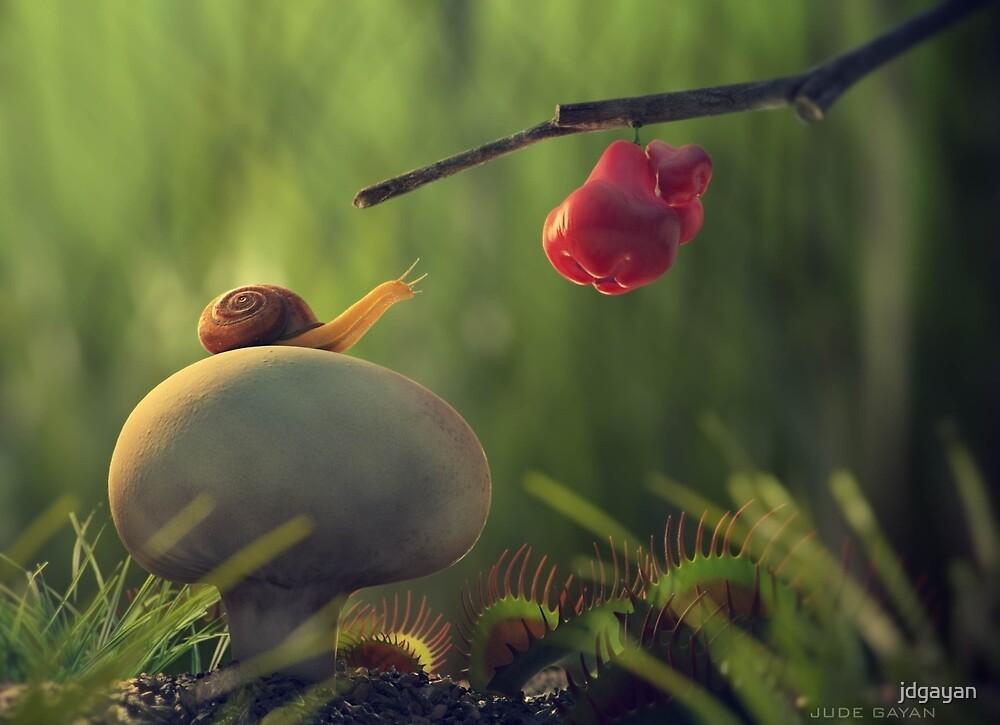Hungry snail by jdgayan