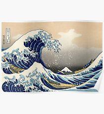 Die große Welle vor Kanagawa von Katsushika Hokusai Poster