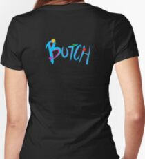 Butch Women's Fitted V-Neck T-Shirt