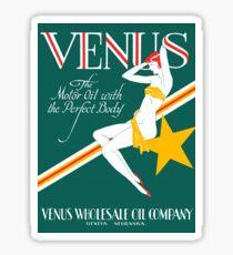 1925 Venus Oil Company Sticker