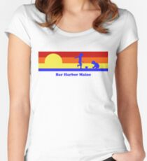 Bar Harbor Maine Sunset Beach Vacation Souvenir Women's Fitted Scoop T-Shirt