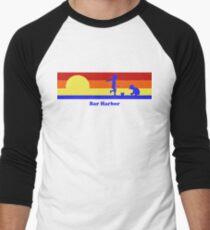 Bar Harbor Maine Sunset Beach Vacation Souvenir Men's Baseball ¾ T-Shirt