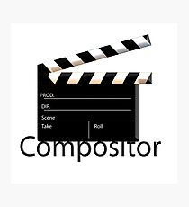Compositor t-shirt for the VFX artist Photographic Print