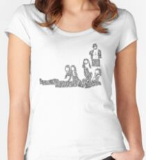 Fleetwood Mac - Rumours // Typographical Ilustration Women's Fitted Scoop T-Shirt