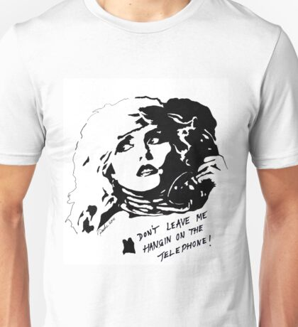 Debby Harry Blondie Hanging on The Telephone Unisex T-Shirt